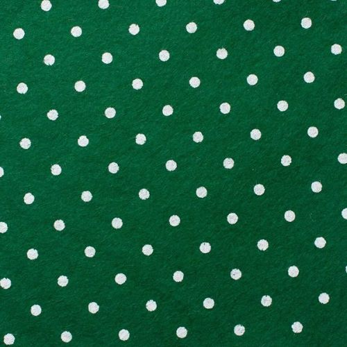 <!--0563-->Wool Blend Felt - Large Polka Dot in Holly, per sheet - Availabl