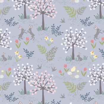 Lewis & Irene - Salisbury Spring On Lavender, per fat quarter