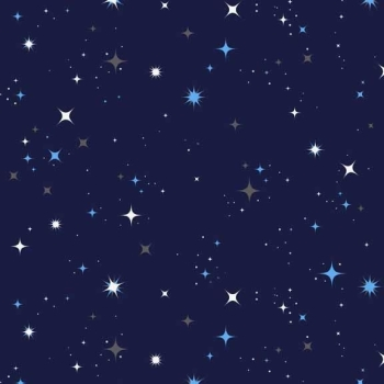 Makower UK - Galaxy Stars in Blue, per fat quarter