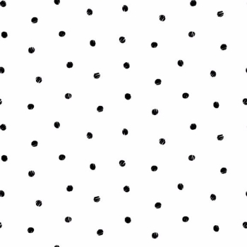 Makower UK - Monochrome Spot Black On White, per fat quarter