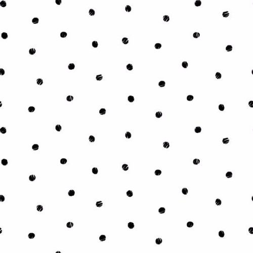 <!--3026-->Makower UK - Monochrome Spot Black On White, per fat quarter
