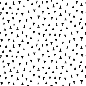 Makower UK - Monochrome Triangles Black On White, per fat quarter