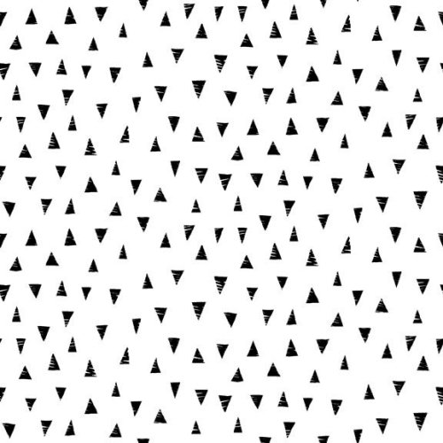 <!--3032-->Makower UK - Monochrome Triangles Black On White, per fat quarte