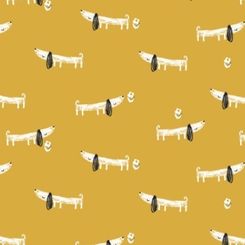 Dashwood Studios - Mori Girls - Dogs, per fat quarter
