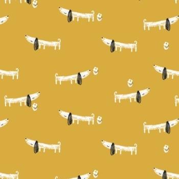 Dashwood Studios - Mori Girls - Dogs, per fat quarter
