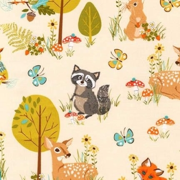 Blend Fabrics - Forest Fellows - Nature, per fat quarter