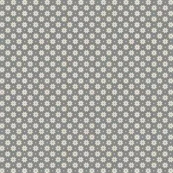 Makower UK - 2017 Scandi 4 Swedish Snowflake in Grey, per fat quarter
