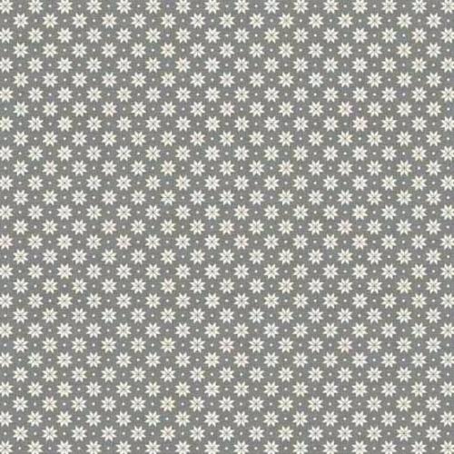 <!--9053-->Makower UK - 2017 Scandi 4 Swedish Snowflake in Grey, per fat qu
