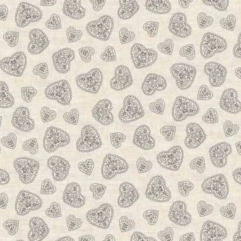 Makower UK - Scandi 4 Hearts in Grey, per fat quarter