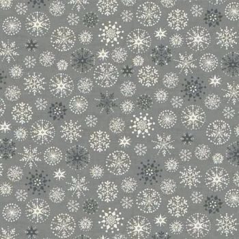 Makower UK - 2017 Scandi 4 Snowflakes in Grey, per fat quarter