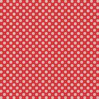 <!--9050-->Makower UK - Scandi Nordic Snowflake in Red, per fat quarter