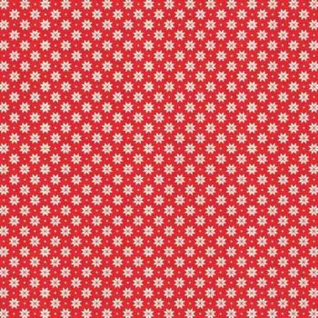 Makower UK - 2017 Scandi 4 Swedish Snowflake in Red, per fat quarter