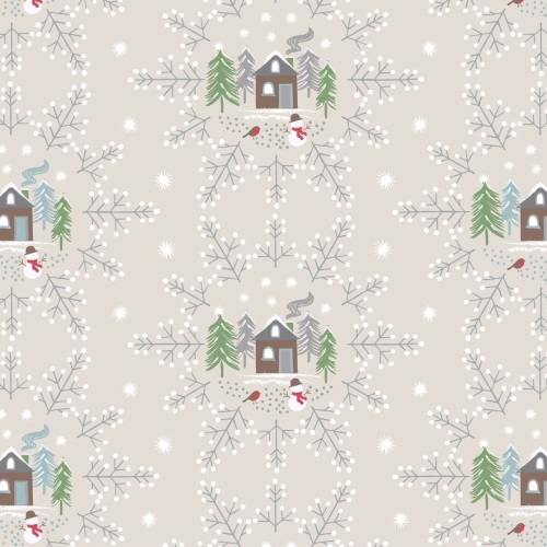 <!--9080-->Lewis & Irene - A Countryside Christmas - Snowflake Scene on Cre