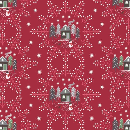 <!--9082-->Lewis & Irene - A Countryside Christmas - Snowflake Scene on Win