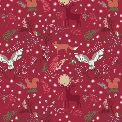 <!--9085-->Lewis & Irene - A Countryside Christmas - Winter Animals on Wine