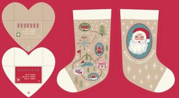 Lewis & Irene - North Pole - Parchment Stocking Panel, per panel  ***WAS £7.00***