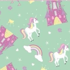 The Craft Cotton Company - Fairytale Princess in Mint, per fat quarter