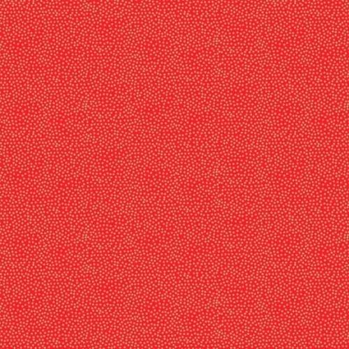 <!--9042a-->Makower UK - Modern Metallic Dotty Red, per fat quarter