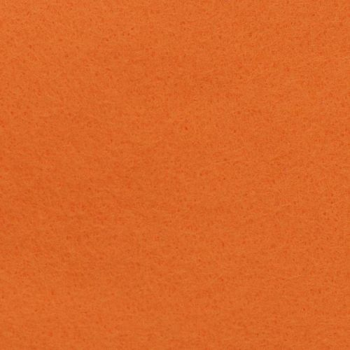<!--0521a-->Wool Blend Felt - Plain in Tango Orange, per sheet - Available