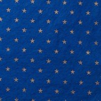 <!--0583-->Wool Blend Felt - Stars on Trafalgar Blue, per sheet - Available in 2 sizes  ***WAS &pound;0.40***