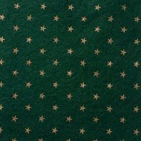 <!--0584-->Wool Blend Felt - Stars on Ivy Green, per sheet - Available in 2 sizes  ***WAS £0.40***