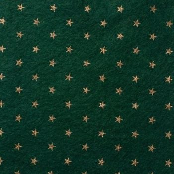Wool Blend Felt - Stars on Ivy Green, per sheet - Available in 2 sizes