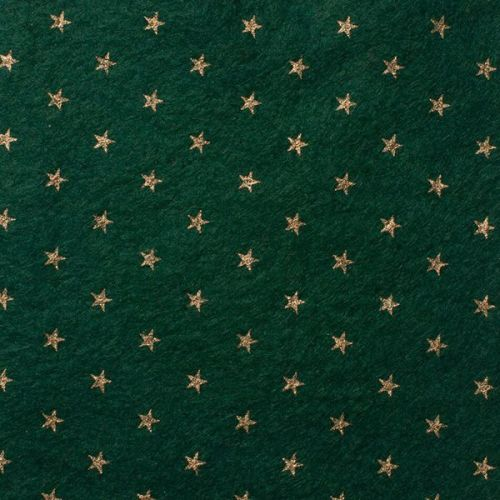 <!--0584-->Wool Blend Felt - Stars on Ivy Green, per sheet - Available in 2