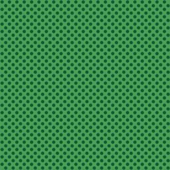 Makower UK - Novelty Polka Dot in Green, per fat quarter