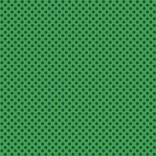<!--9036a-->Makower UK - Novelty Polka Dot in Green, per fat quarter