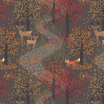 Lewis & Irene - Autumn in Bluebell Wood Dusk, per fat quarter