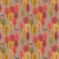 <!--4186-->Lewis &amp; Irene - Autumn in Bluebell Wood Leaping Deer On Light Brown, per fat quarter  **WAS &pound;2.90**