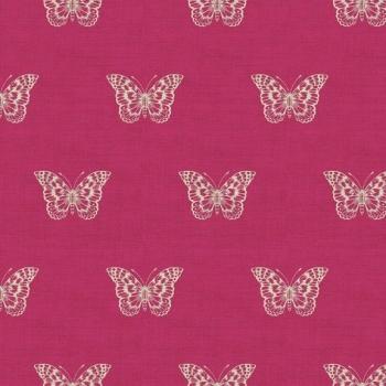 Makower UK - Botanica Butterfly in Pink, per fat quarter