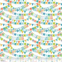 <!--5206-->Blend Fabrics - Calliope - Bannerline in Blue, per fat quarter  **WAS &pound;3.00**