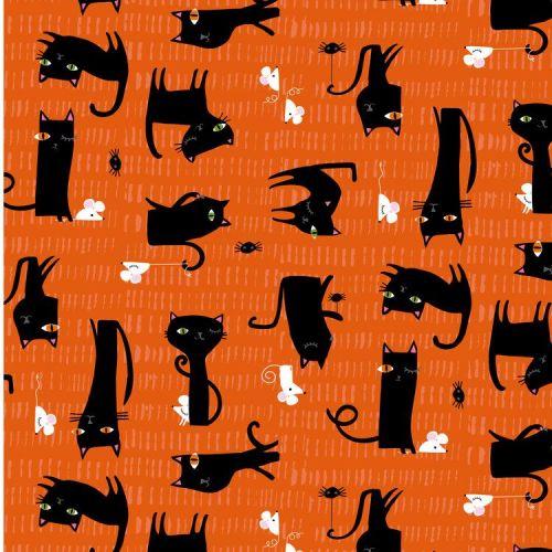 <!--5002-->Dashwood Studios - Spooktakular - Cats, per fat quarter