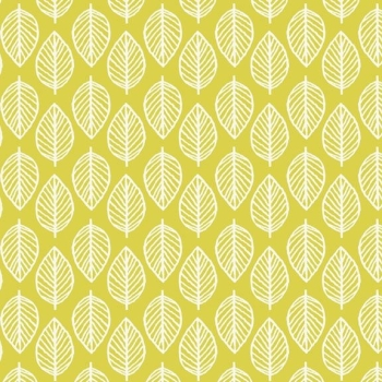 Makower UK - Modern Retro Leaf in Green, per fat quarter