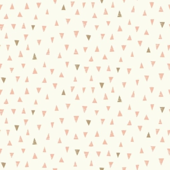 Makower UK - Doodle Days Triangles in Pink, per fat quarter