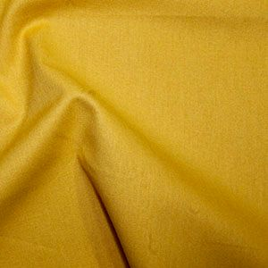 Rose & Hubble True Craft Cotton - Plain in Gold - 17, per fat quarter