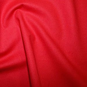 Rose & Hubble True Craft Cotton - Plain in Red - 27, per fat quarter