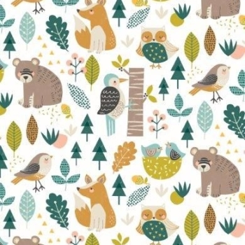 Dashwood Studios - Harvest Wood - Animal Allover, per fat quarter