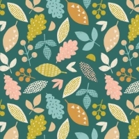 <!--5010-->Dashwood Studios - Harvest Wood - Falling Leaves, per fat quarter