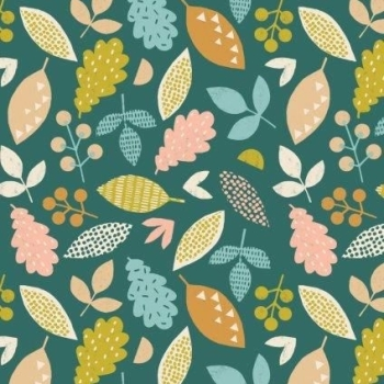 Dashwood Studios - Harvest Wood - Falling Leaves, per fat quarter  **WAS £2.85**