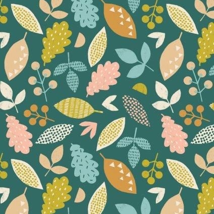 <!--5010-->Dashwood Studios - Harvest Wood - Falling Leaves, per fat quarte