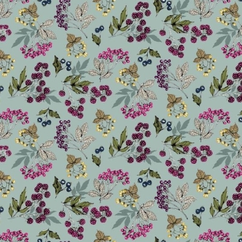 Makower UK - Botanica Forest Fruits in Blue, per fat quarter ***WAS £2.65***