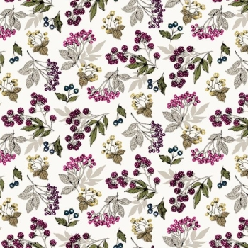 Makower UK - Botanica Forest Fruits in Antique White, per fat quarter ***WAS £2.65***