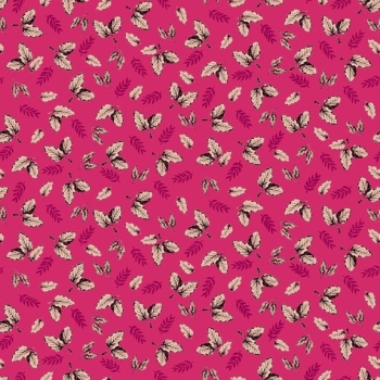 Makower UK - Botanica Leaf in Fuschia, per fat quarter ***WAS £2.65***