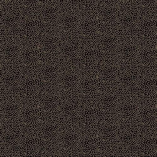 <!--9042-->Makower UK - Modern Metallic Dotty in Black, per fat quarter  **