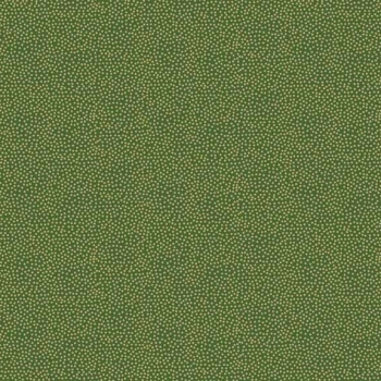 Makower UK - Modern Metallic Dotty In Green, per fat quarter  ***WAS £2.65***