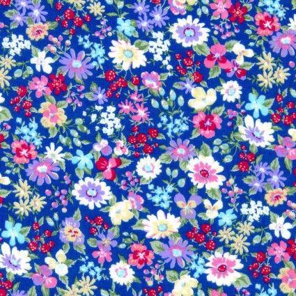 <!--5701-->Cosmo Fabrics - Cotton Lawn - Garden Delight, per fat quarter **