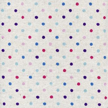 Sevenberry - Natural Dots in Blue/Berry, per fat quarter ***WAS £3.00***