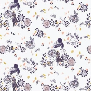 Dashwood Studios - Autumn Rain - Girls Allover, per fat quarter